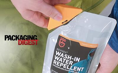 In the News: Gear Aid's Spouted Pouch by Glenroy featured in Packaging Digest